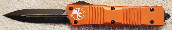 Microtech Combat Troodon D/E Orange Standard 142-1 OR