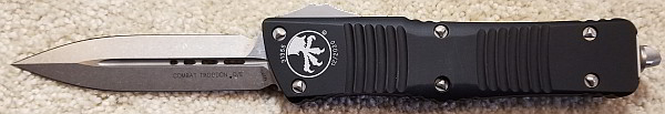 Microtech Combat Troodon D/E Stonewash Standard 142-10