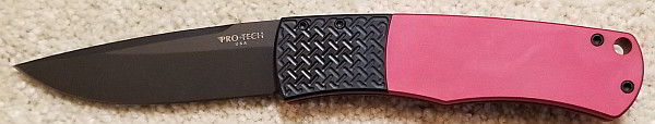 """Protech BR-1.7 Red """"Whiskers"""" Red Handle"""